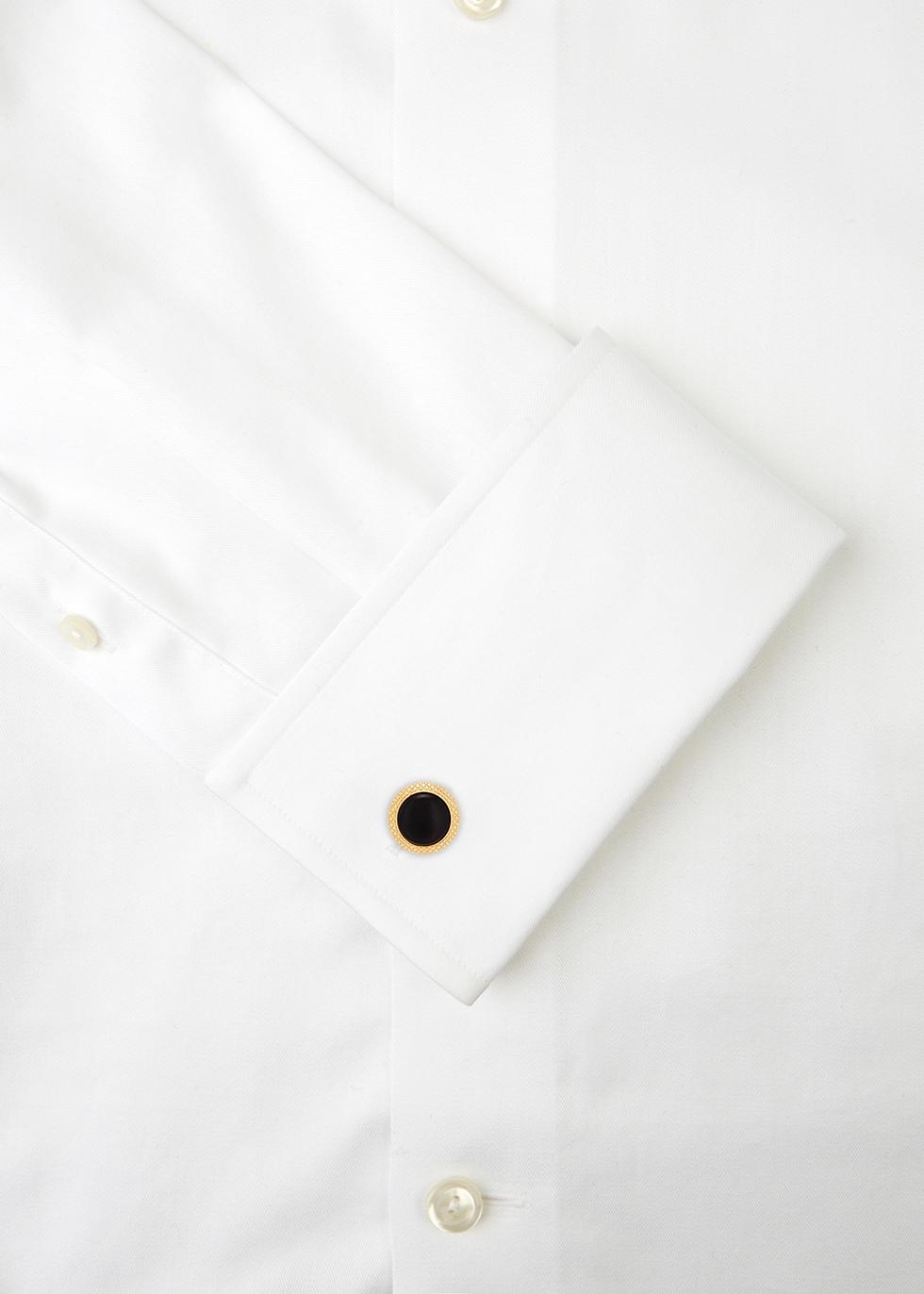 Bullseye gold-tone onyx cufflinks - Tateossian