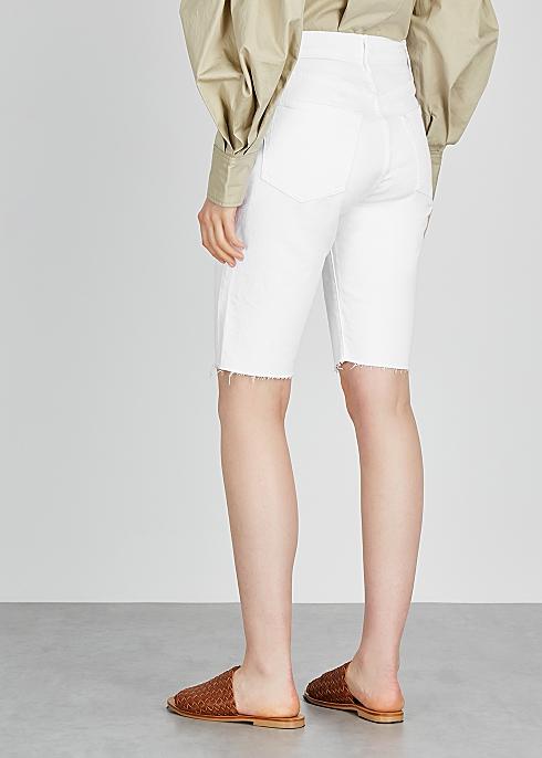 3a6b80643c Frame Denim Le Vintage Bermuda white denim shorts - Harvey Nichols