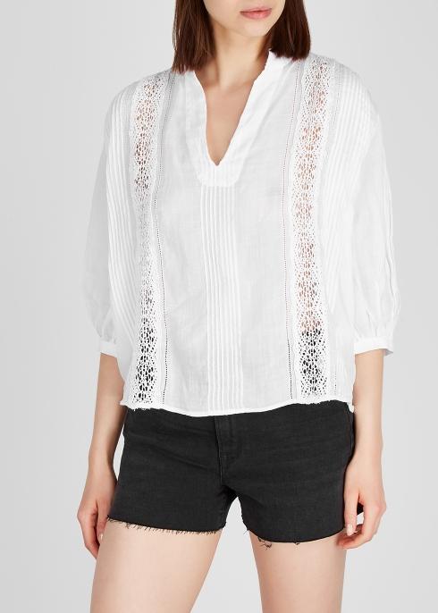 3e319bf87e66e FRAME DENIM White ramie shirt - Harvey Nichols