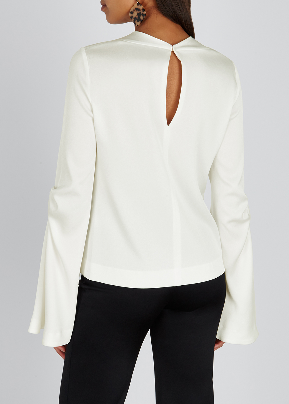 Orchid white satin top - Galvan