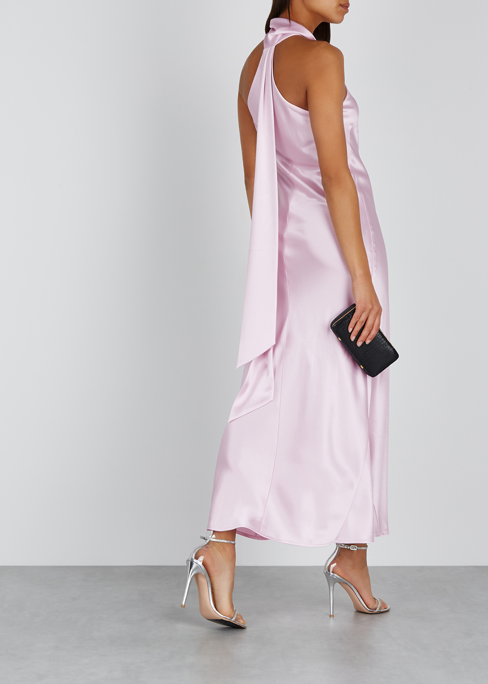 Pandora lilac satin midi dress - Galvan