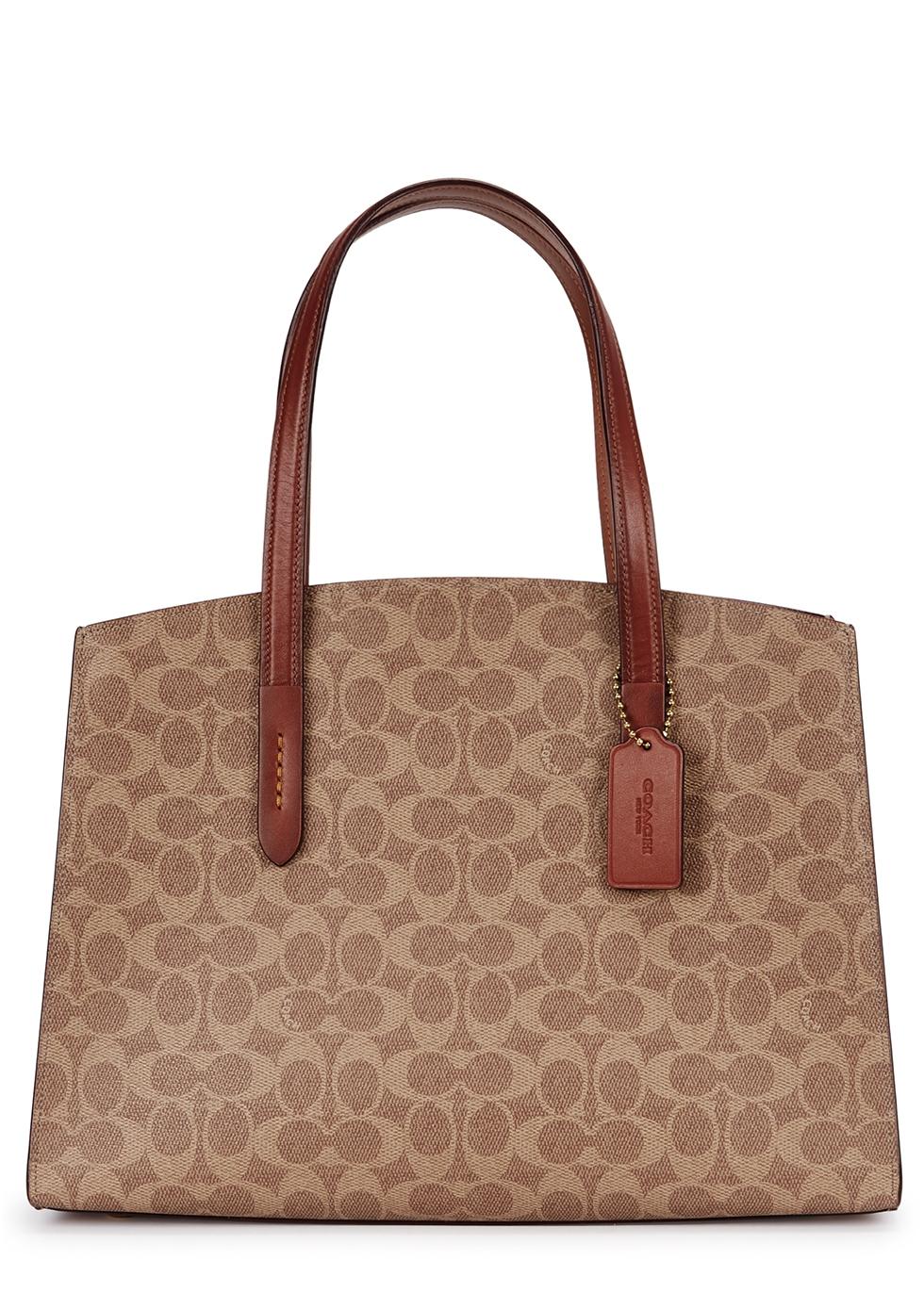 Charlie tan leather top-handle bag - Coach