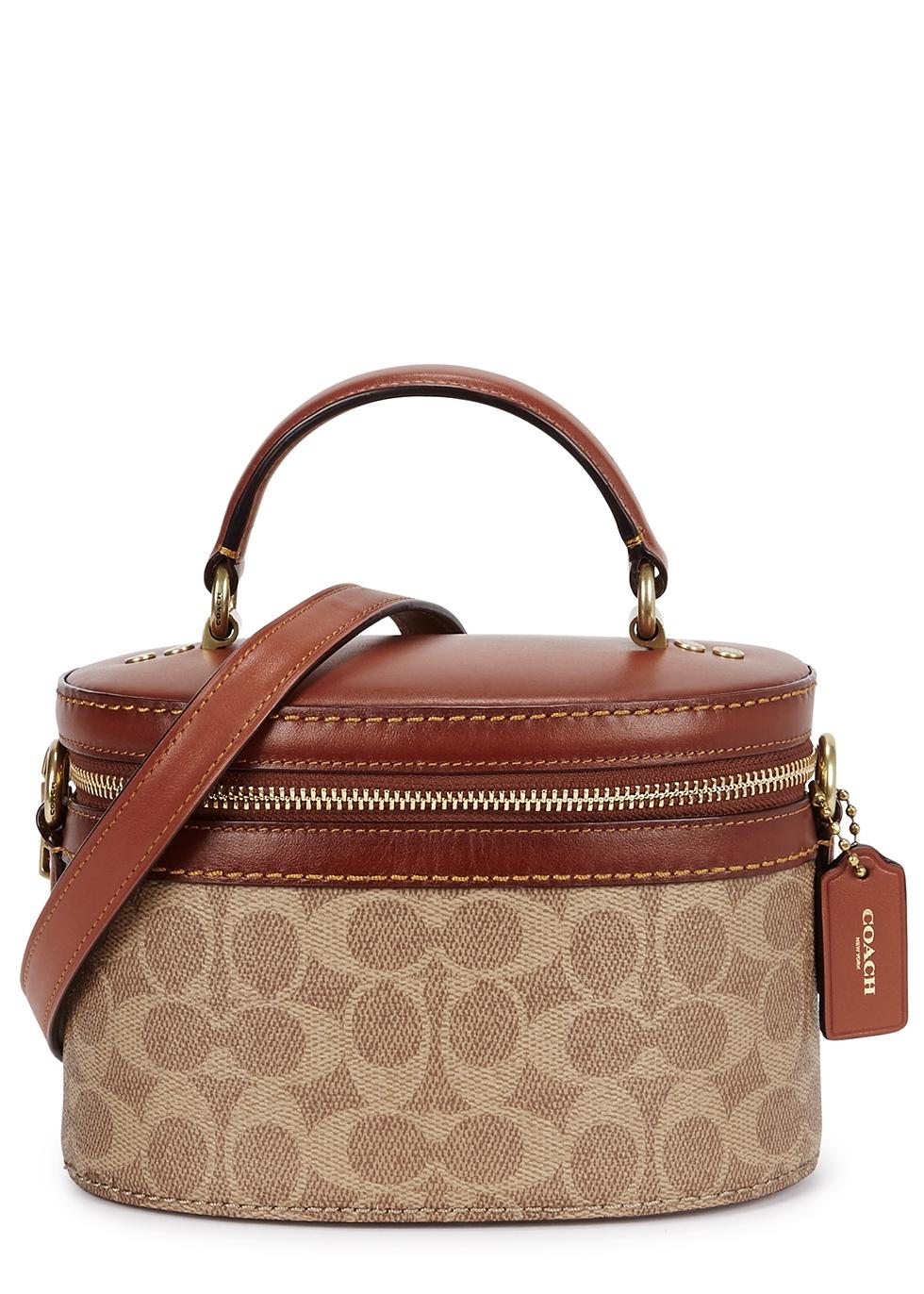 Tan leather bucket bag - Coach