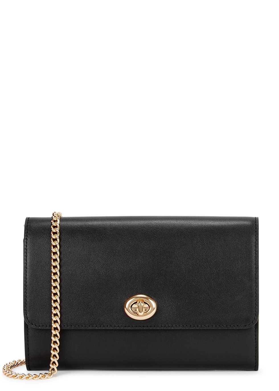 Marlow black leather cross-body bag - Coach