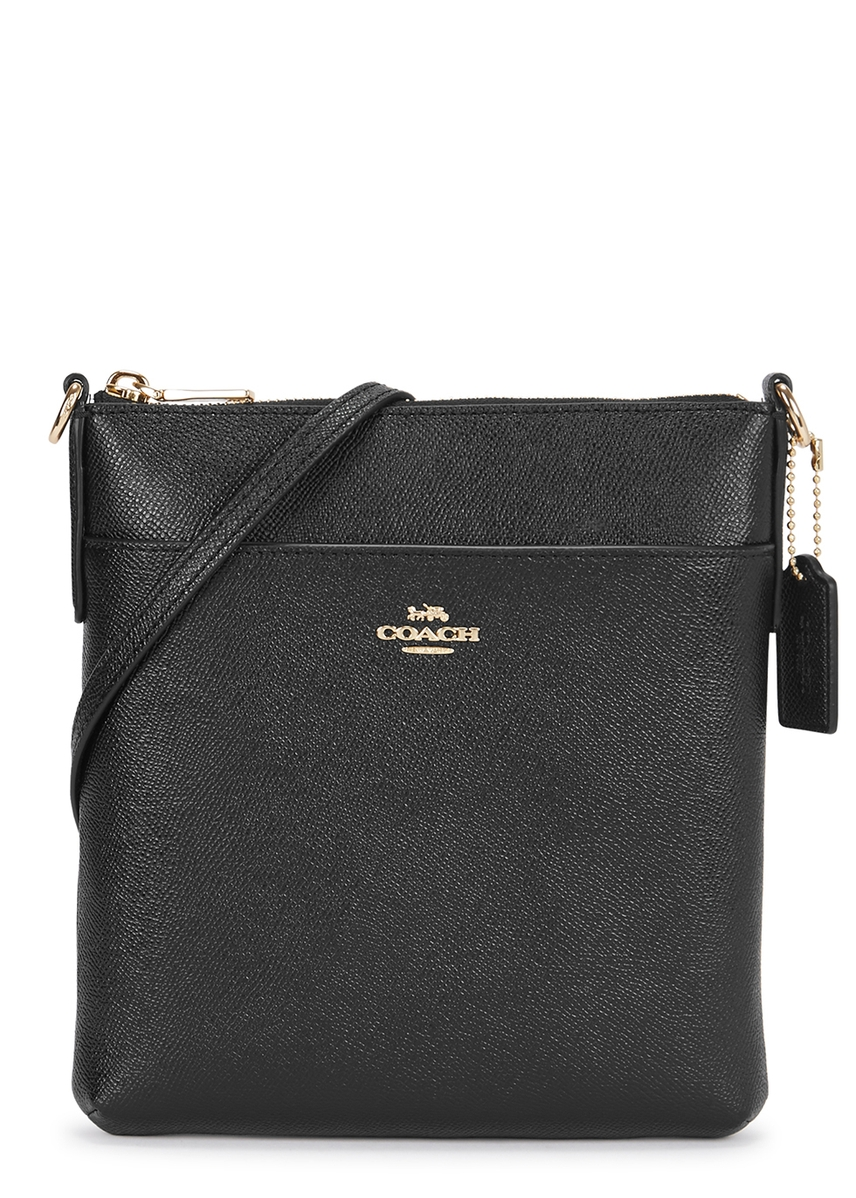 a678d02c869 Black leather cross-body bag ...