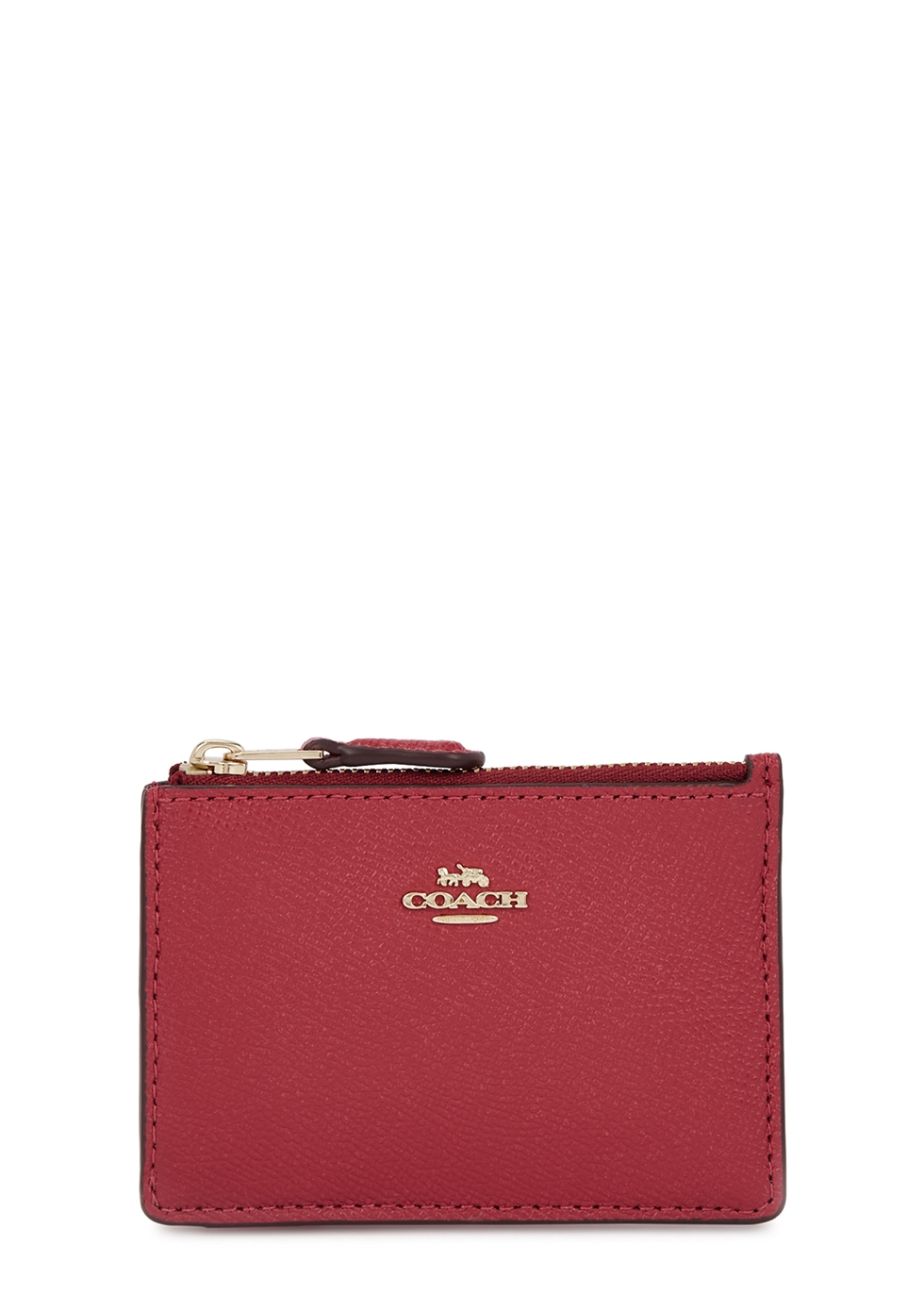 COACH | Coach Dark Pink Leather Card Holder | Goxip
