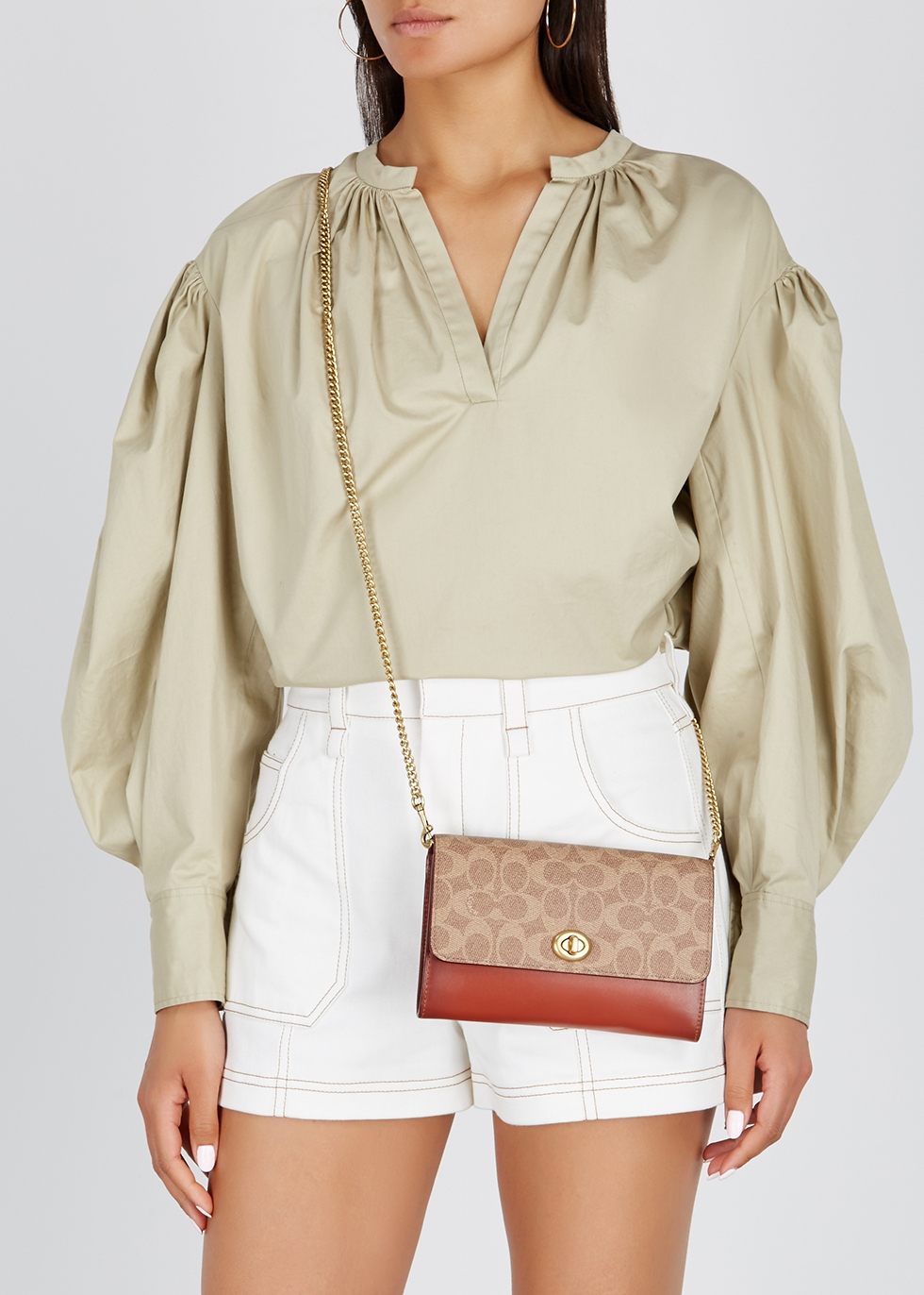 Marlow brown leather cross-body bag - Coach