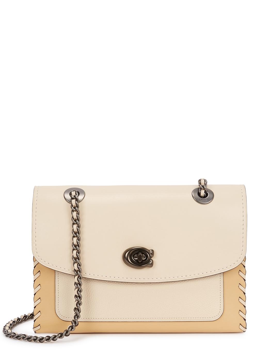 Parker ivory leather shoulder bag - Coach