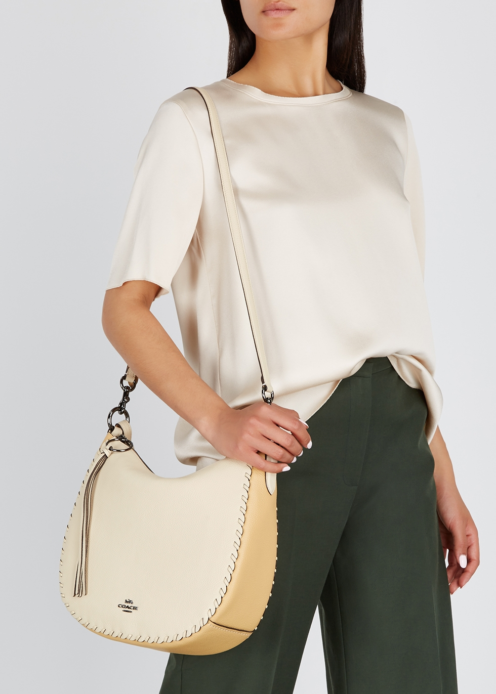 Sutton ivory leather hobo bag - Coach