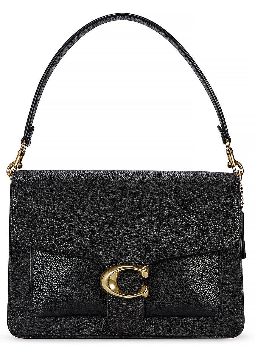 fa9c9fdf9c37dd Tabby black grained leather shoulder bag ...