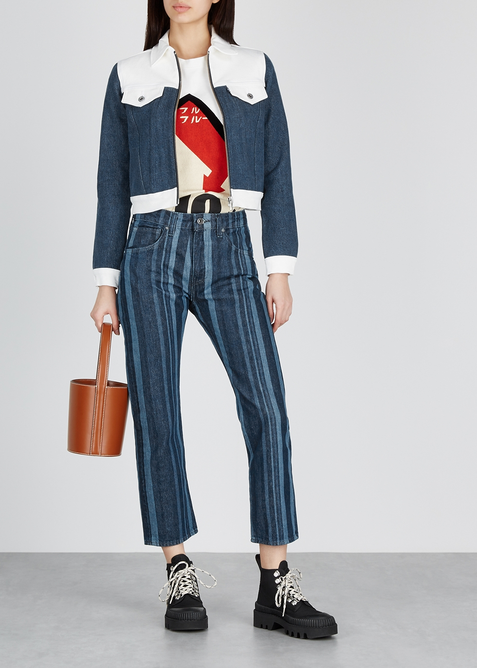 Blue striped slim-leg jeans - Levi's Made & Crafted
