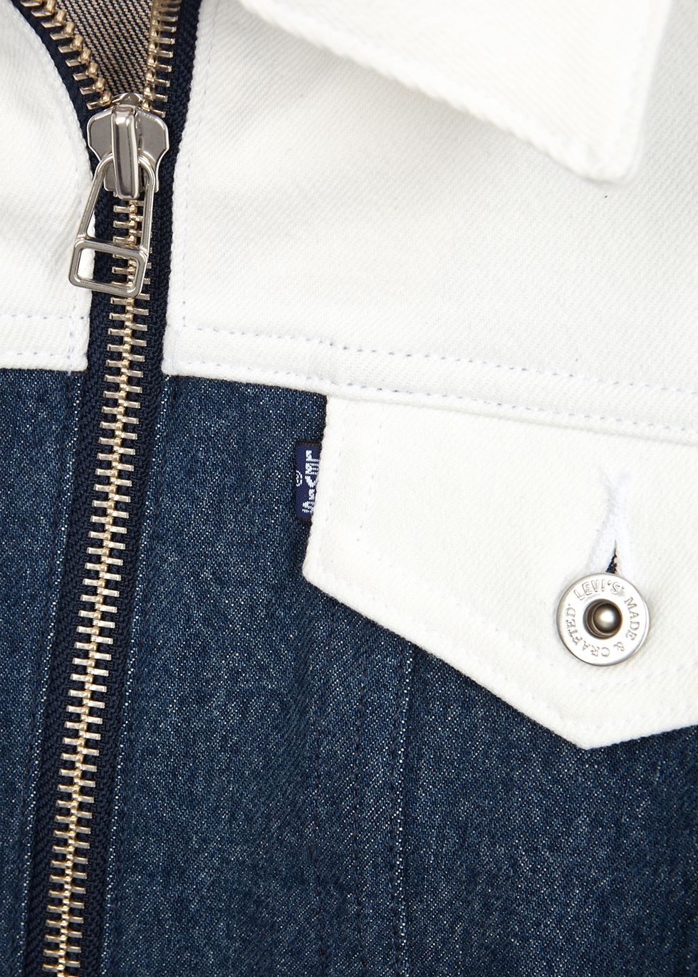 Two-tone stretch-denim jacket - Levi's Made & Crafted