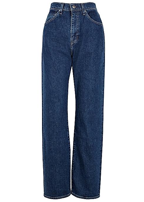 houkutteleva hinta jaloissa uusi luettelo Levi's Made & Crafted 701 dark blue straight-leg jeans ...