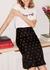 Lois cherry flared skirt - Kitri