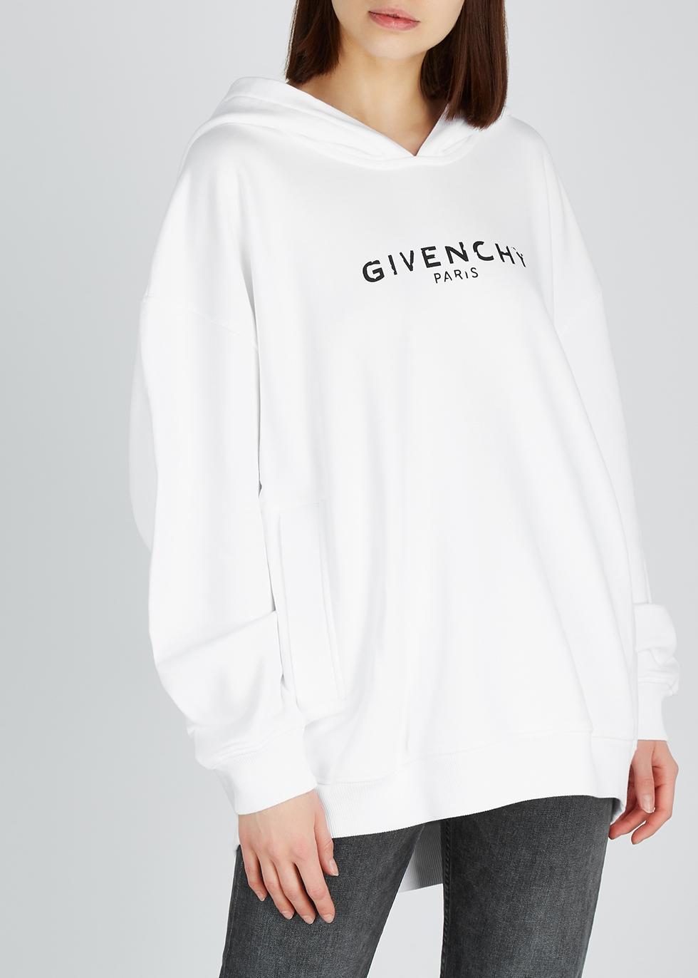 Logo-print hooded cotton sweatshirt - Givenchy