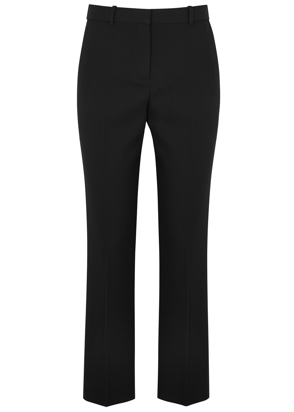 GIVENCHY | Givenchy Black Tapered-Leg Wool Trousers | Goxip