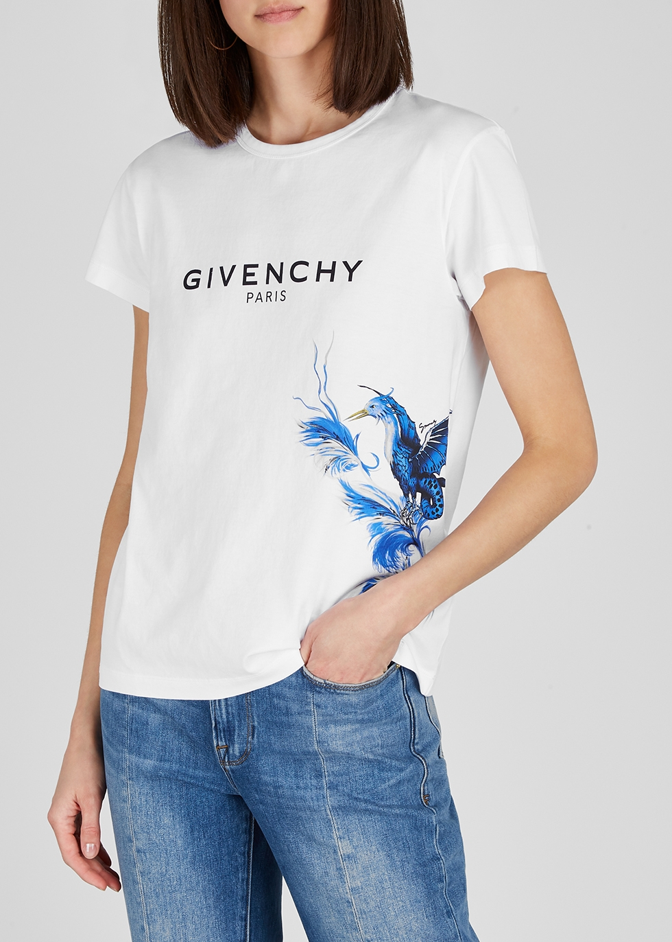 White printed cotton T-shirt - Givenchy
