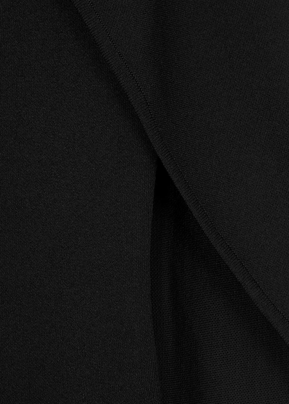 Black cape-effect stretch-knit jumper - Givenchy