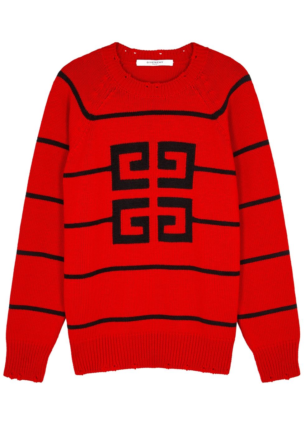 4G intarsia wool-blend jumper