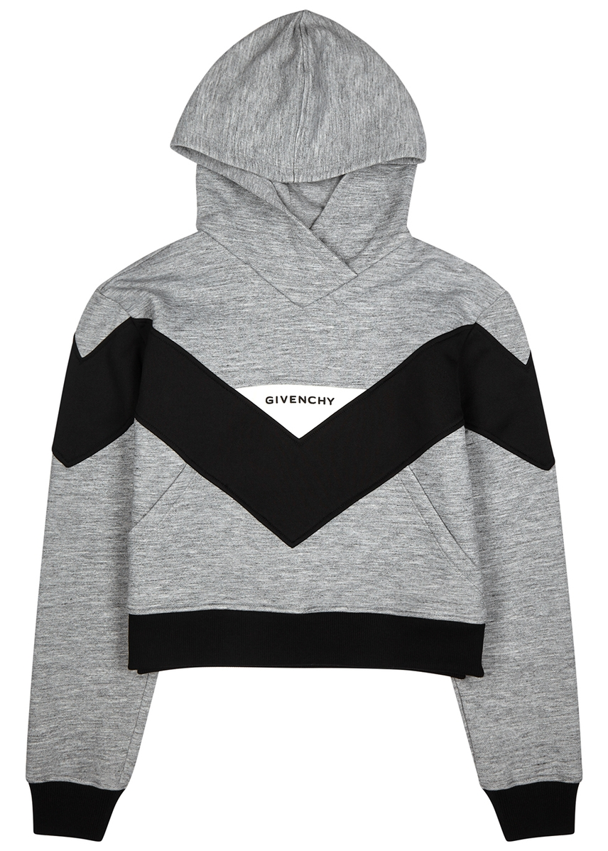 e97091917d23 Grey hooded stretch-jersey sweatshirt ...