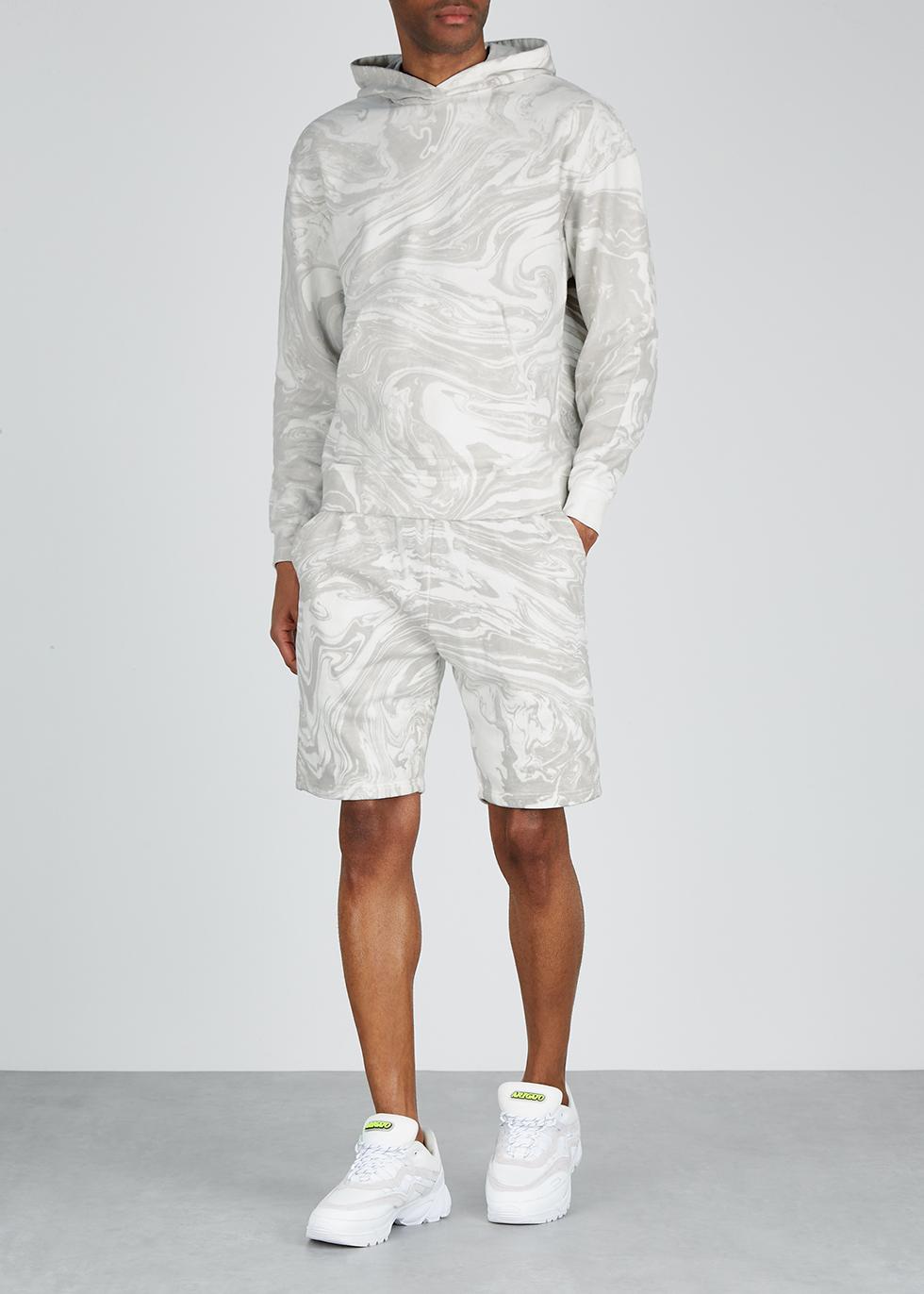 Grey marble-dyed jersey sweatshirt - John Elliott