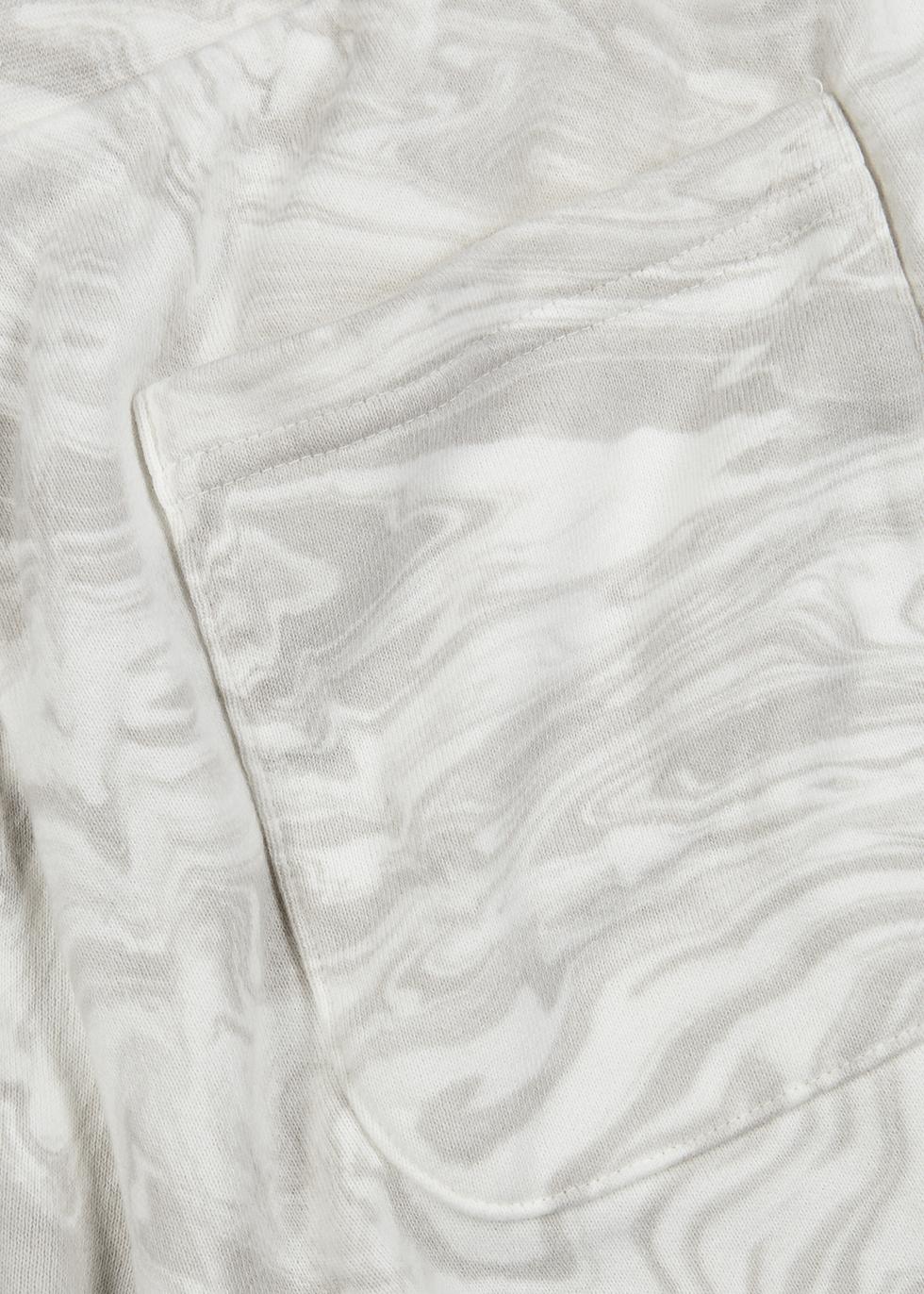 Grey marble-dye cotton-jersey shorts - John Elliott