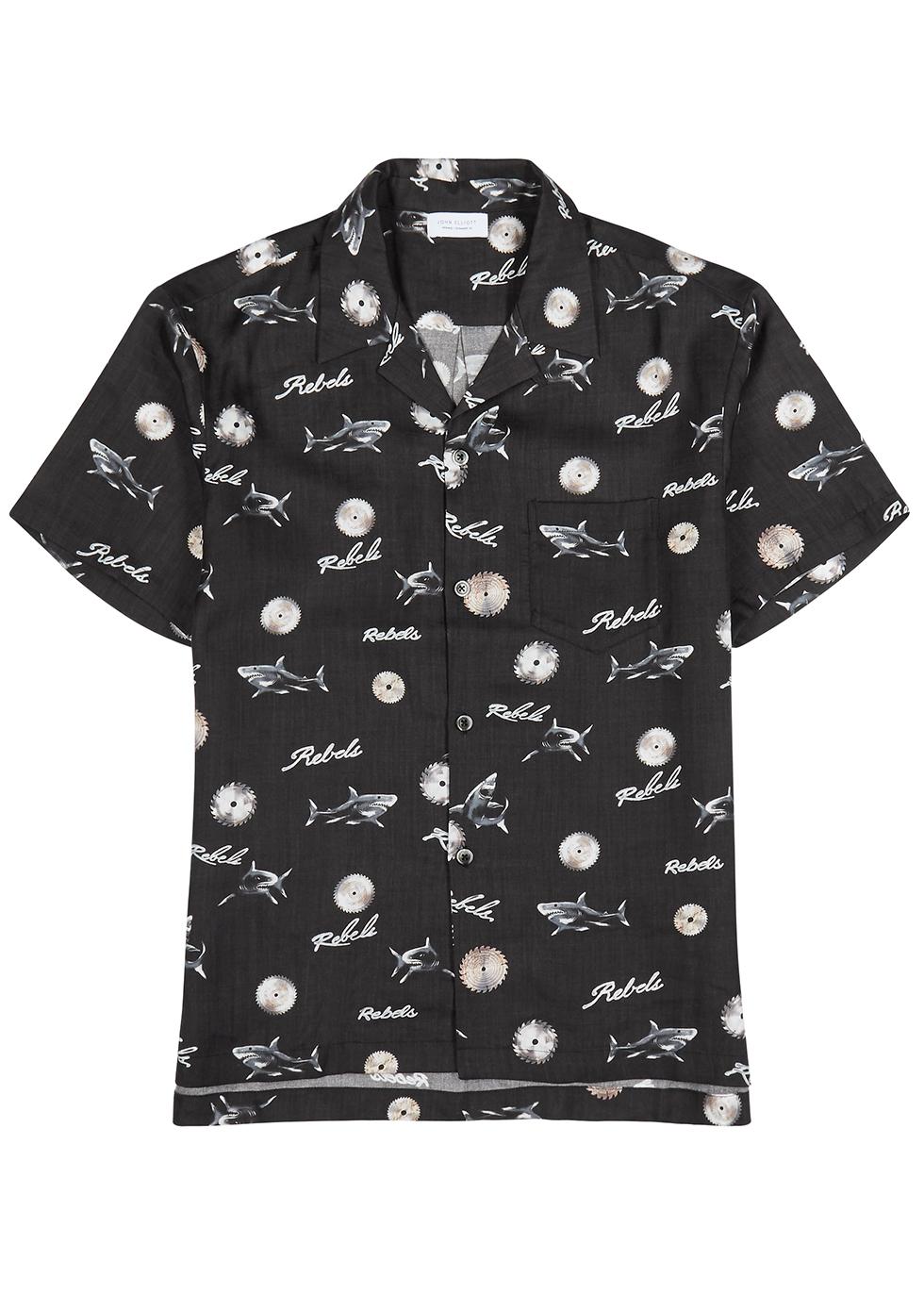 Black printed shirt - John Elliott