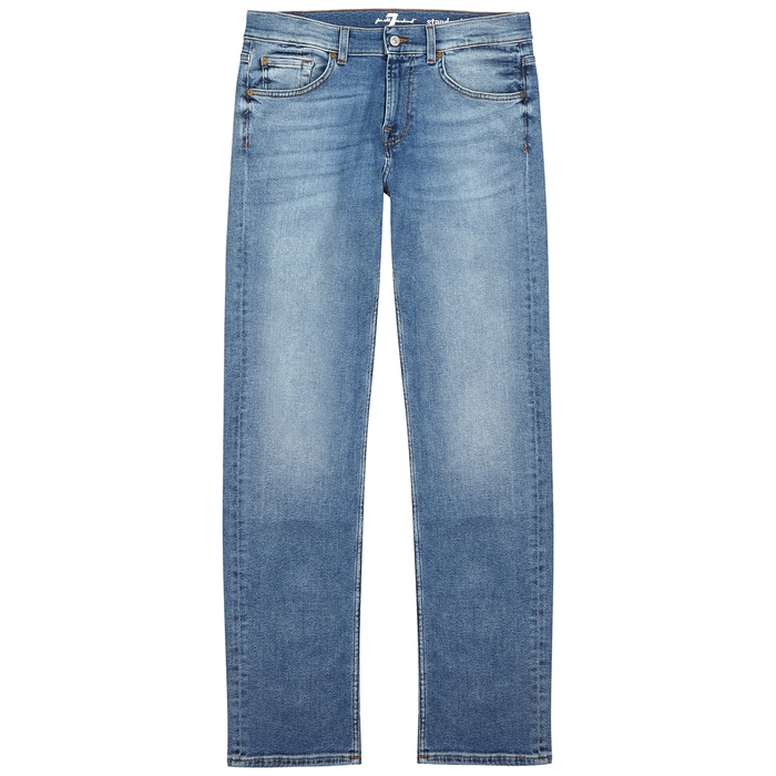 7 For All Mankind Standard Luxe Perormance Straight-Leg Jeans