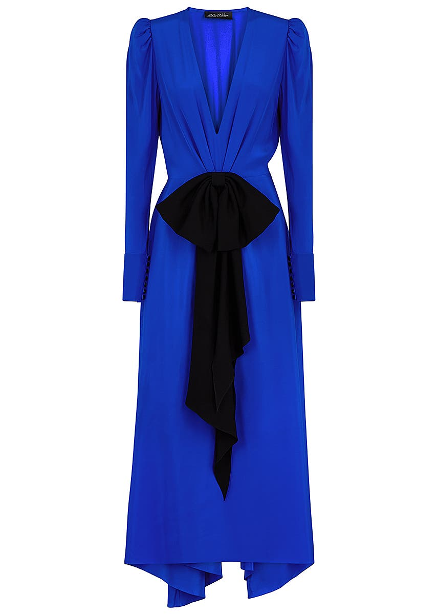 fe46ea12d206 Bow-embellished silk dress Bow-embellished silk dress. New Season. Anna  October