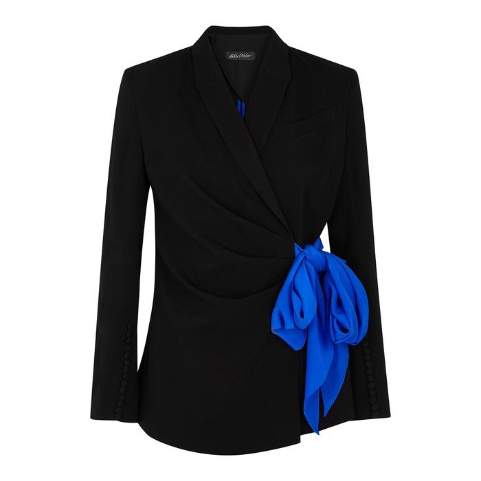 Anna October Nicole Black Crepe De Chine Jacket