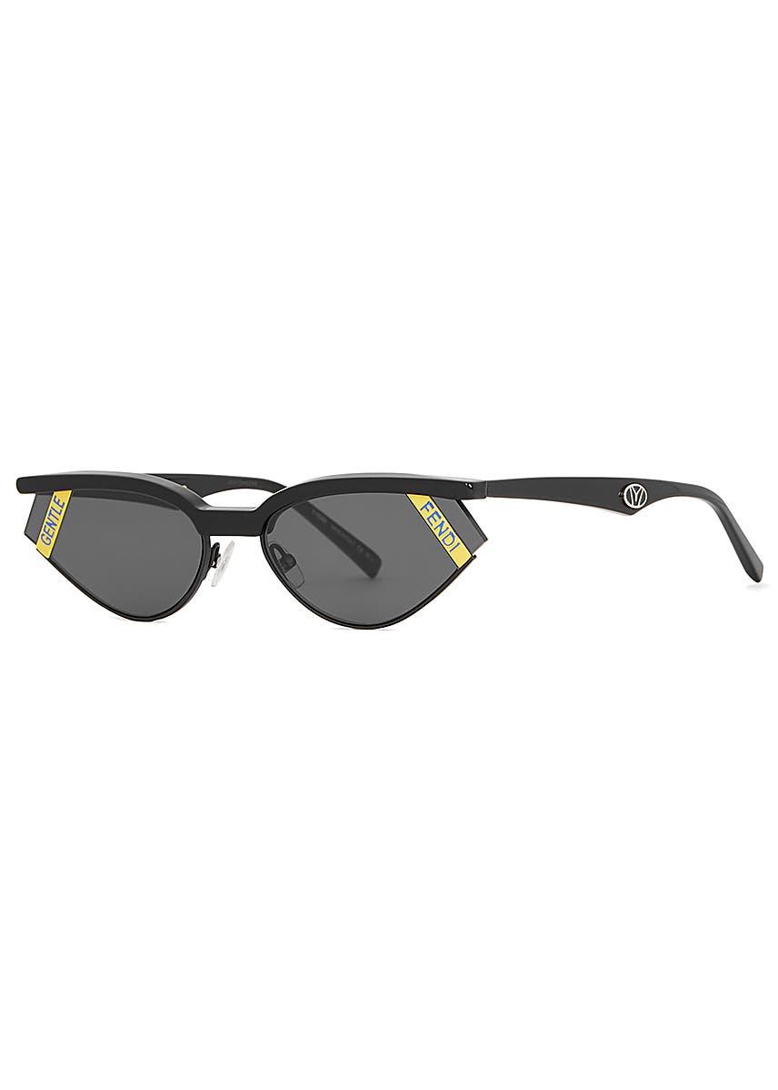 e3297818c263 X Gentle Monster Gentle Fendi black cat-eye sunglasses ...
