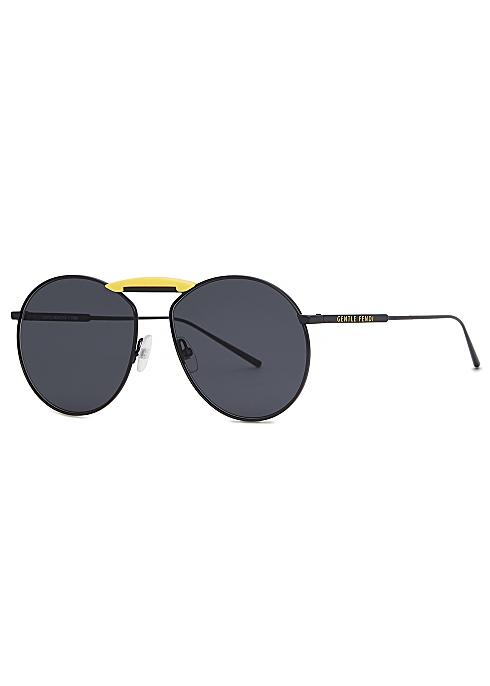 84f2d181b Fendi X Gentle Monster Gentle Fendi black round frame sunglasses ...