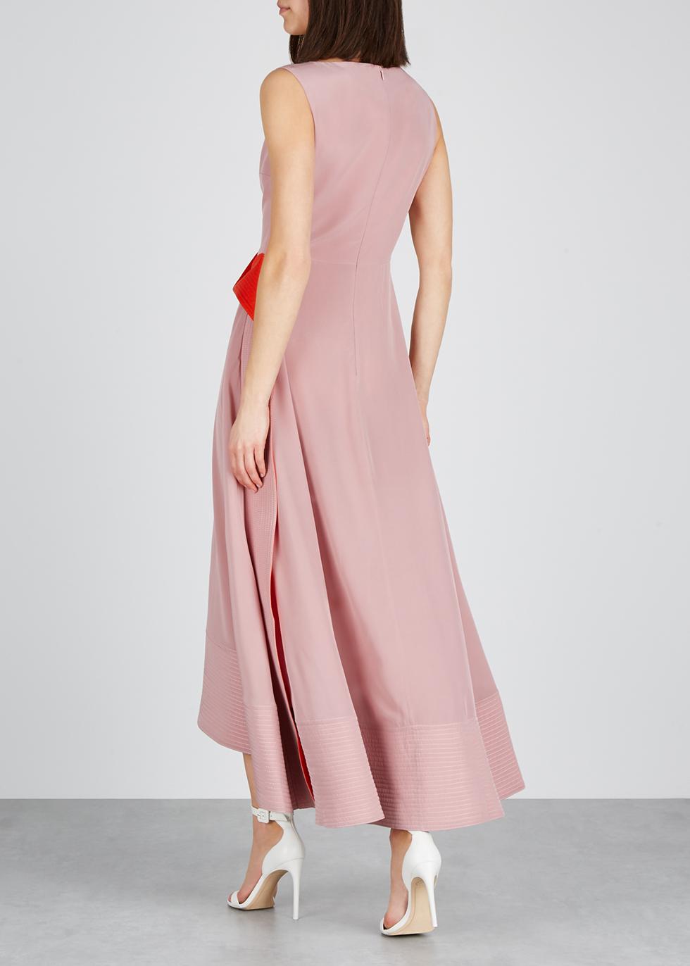 Efilia ruffle-trimmed silk dress - Roksanda