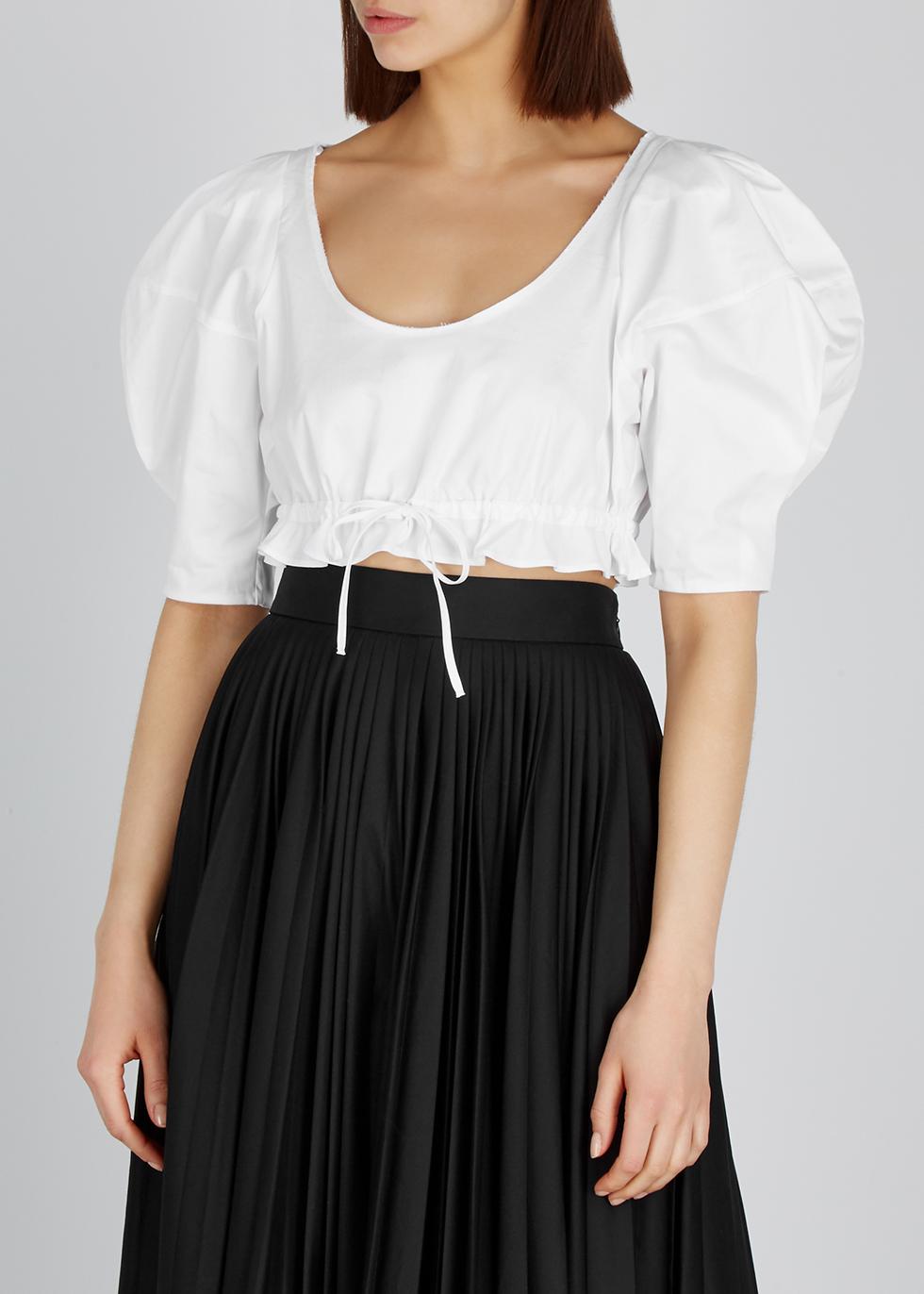 Frankie white cotton top - Khaite