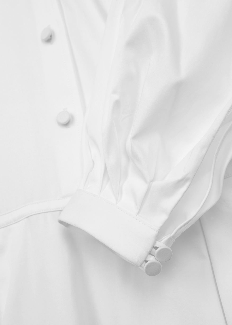 Amelie white poplin dress - Khaite