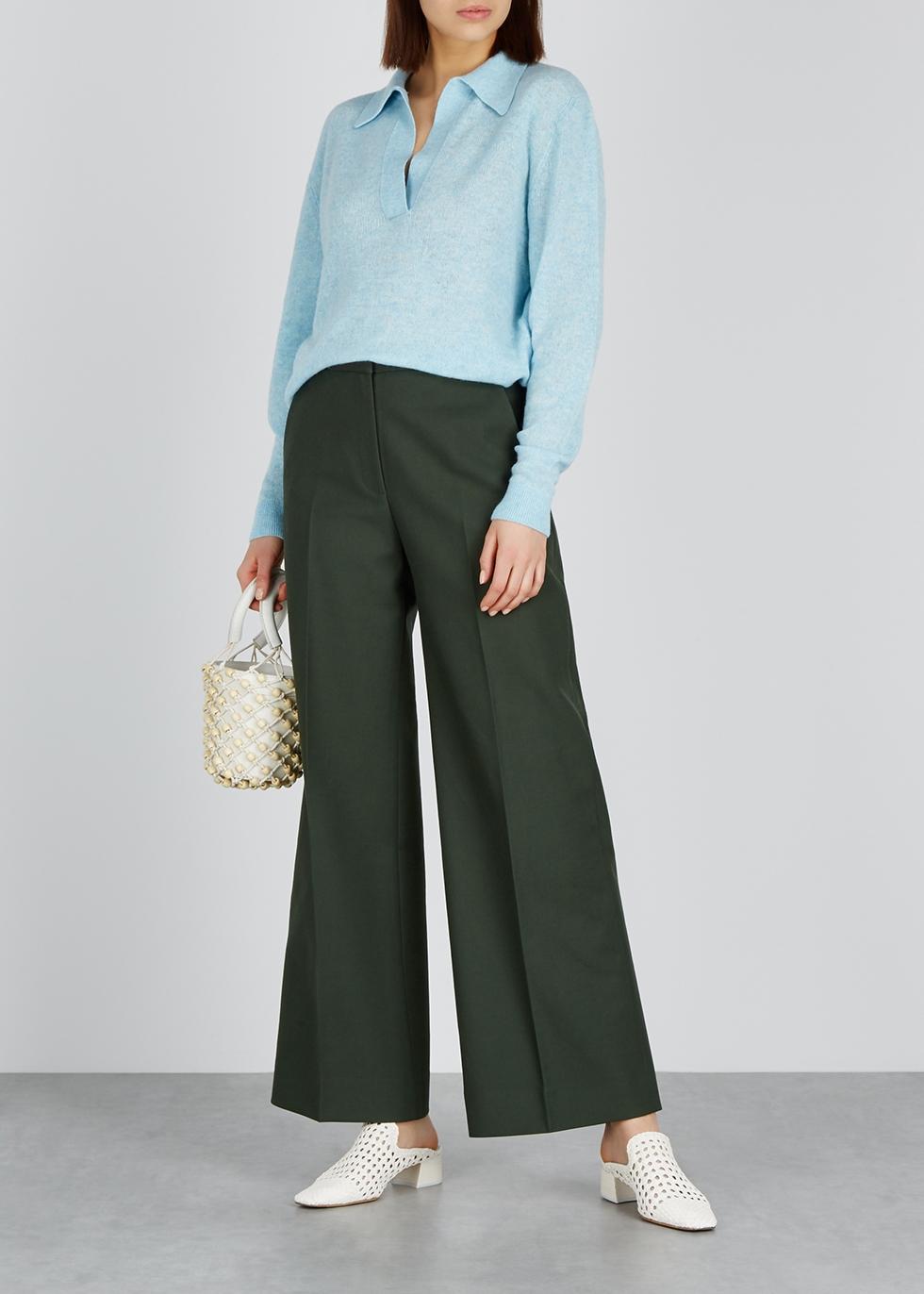 Jo blue cashmere-blend jumper - Khaite