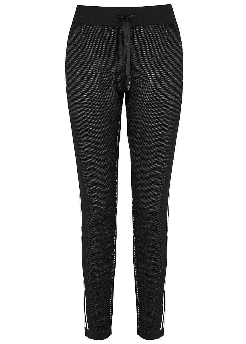 fa5461c2ae4558 ID black knitted stretch-jersey sweatpants ...