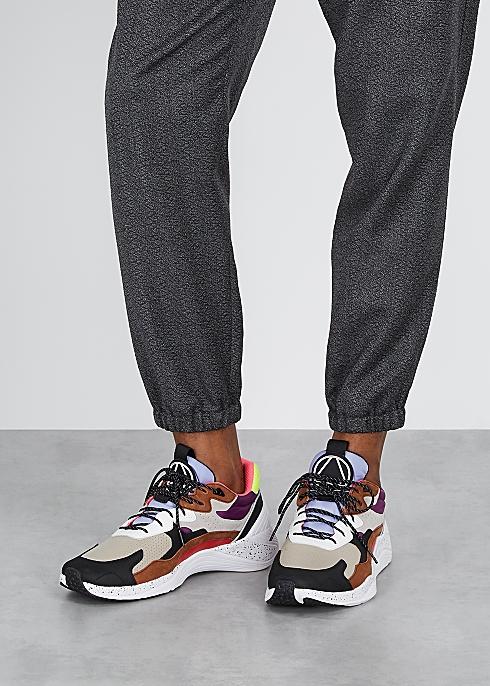 low priced 8c49a e2006 McQ Alexander McQueen Daku grey leather sneakers - Harvey ...