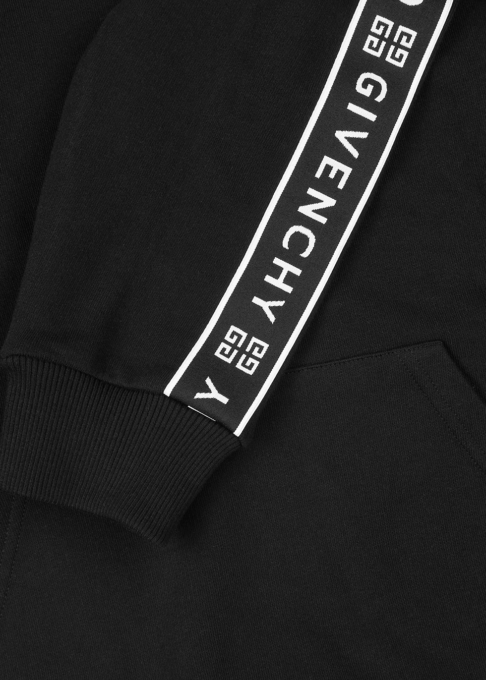 Black logo-jacquard cotton sweatshirt - Givenchy