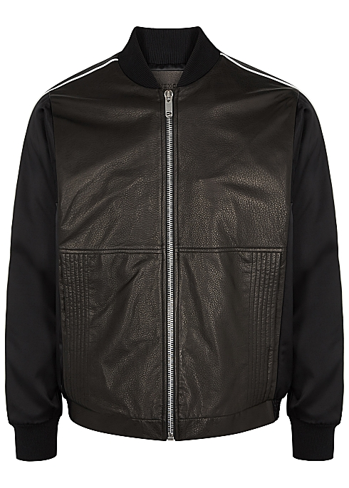 9756da323 Givenchy Satin and leather bomber jacket - Harvey Nichols