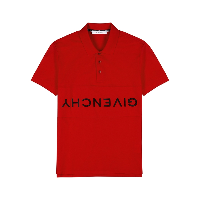 Givenchy Logo-embroidered Piqué Cotton Polo Shirt