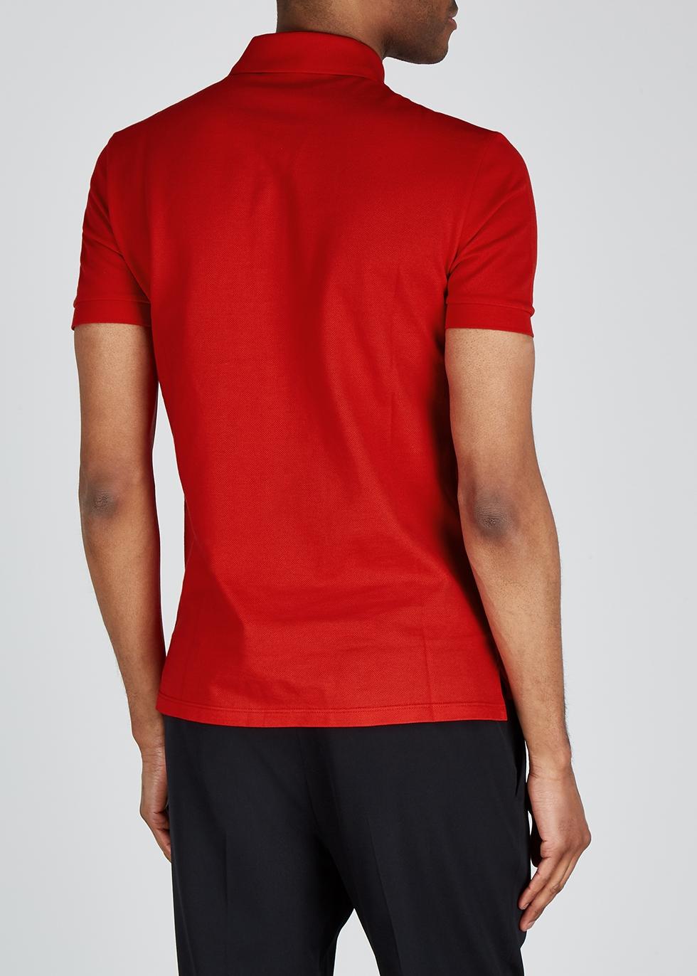 Logo-embroidered piqué cotton polo shirt - Givenchy