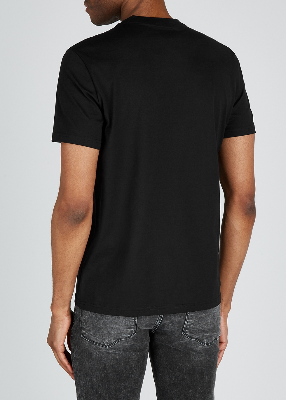 Black logo-print cotton T-shirt - Givenchy