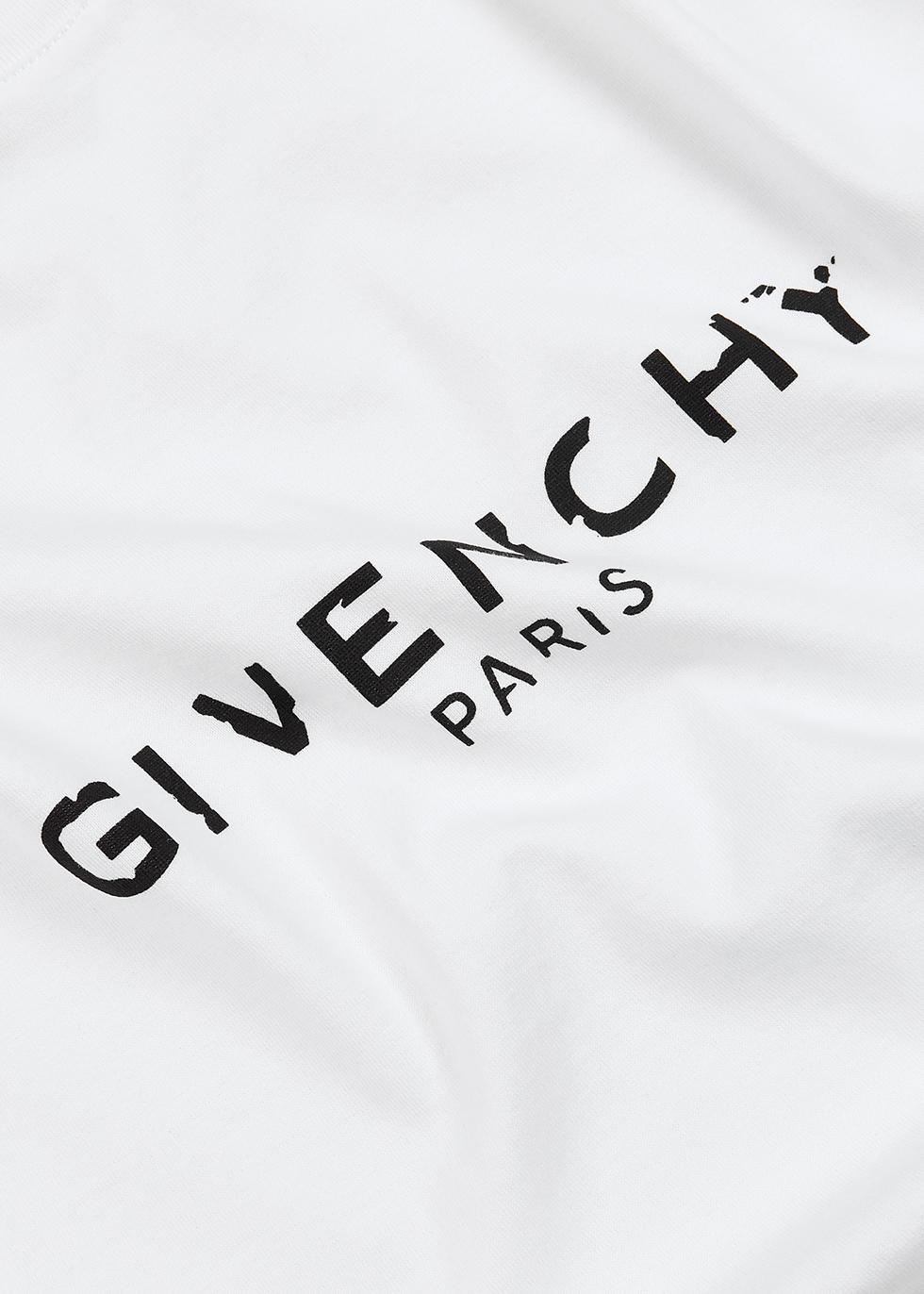 White logo-print cotton T-shirt - Givenchy