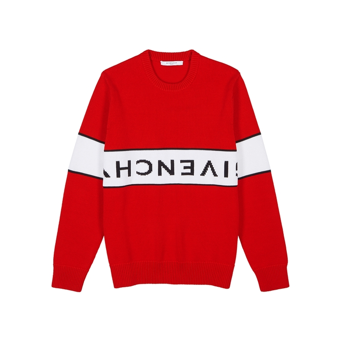Givenchy Logo-intarsia Cotton Jumper