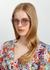 852 C5 Zazel cat-eye sunglasses - Linda Farrow Luxe