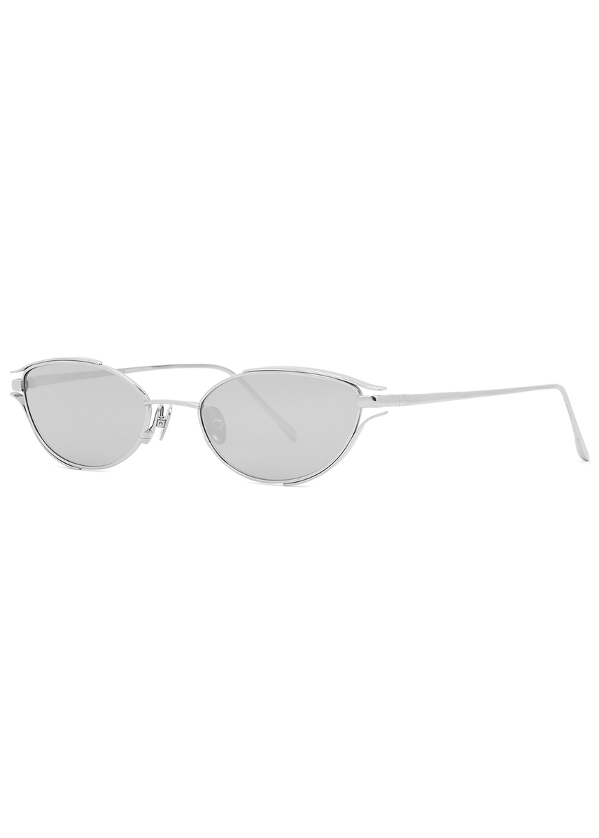 99af990fa721 947 C2 white gold-plated platinum sunglasses. New In. Linda Farrow Luxe