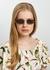 968 C1 rectangle-frame sunglasses - Linda Farrow Luxe