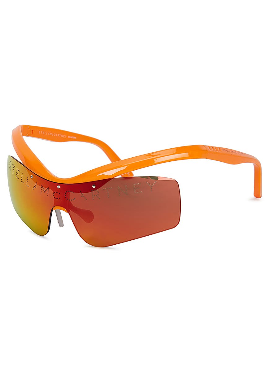 df3b5d1567 Mirrored wrap-around sunglasses Mirrored wrap-around sunglasses. Stella  McCartney