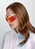 Mirrored wrap-around sunglasses - Stella McCartney